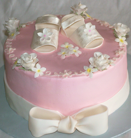 another baby shower cake super girly baby shoes sandals and