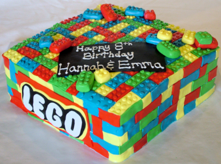 August 13th, 2010. This lego cake was for twin girls turning 8.